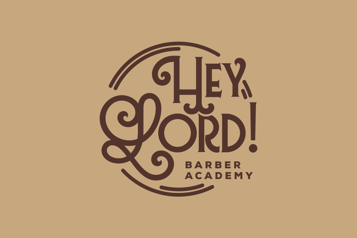 Branding para Hey Lord Barber School
