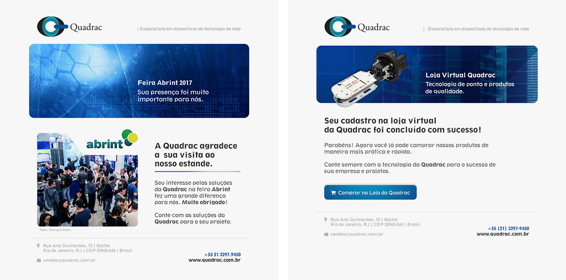 Email Marketing e Newsletter Quadrac | Agência Pulse - Branding e Comunicação